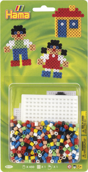 Small Hama Midi Bead Kit - Boy, Girl and House (4111)