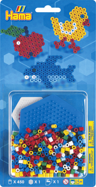 Small Hama Midi Bead Kit - Duck, Apple and Whale (4147)