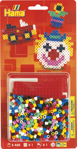 Small Hama Midi Bead Kit - Clown, Flower & Truck (4145)