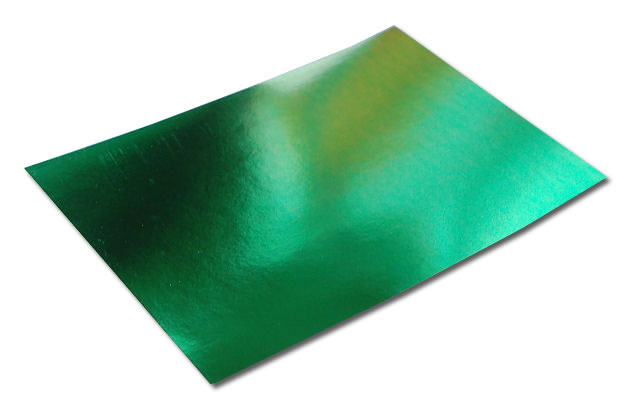 Pack of 10 A4 Sheets of Green Mirror Card 250gsm