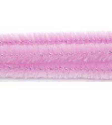 "Pack of 25 12"" Pipe Cleaners / Chenille Stems - Baby Pink"