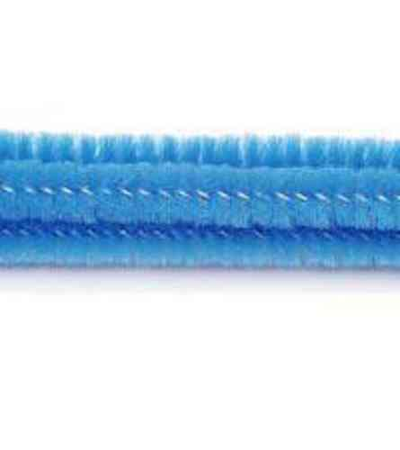 "Pack of 25 12"" Pipe Cleaners / Chenille Stems - Blue"