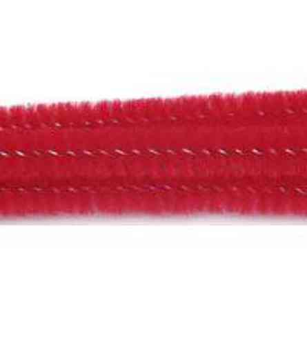 "Pack of 25 12"" Pipe Cleaners / Chenille Stems - Red"