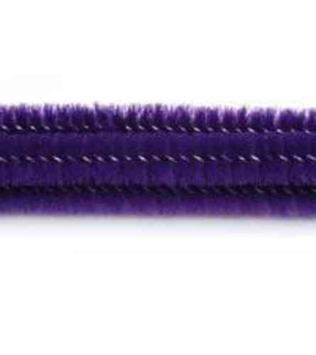 "Pack of 25 12"" Pipe Cleaners / Chenille Stems - Purple"