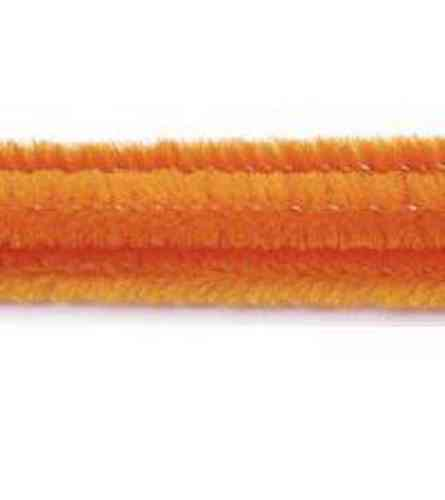 "Pack of 25 12"" Pipe Cleaners / Chenille Stems - Orange"