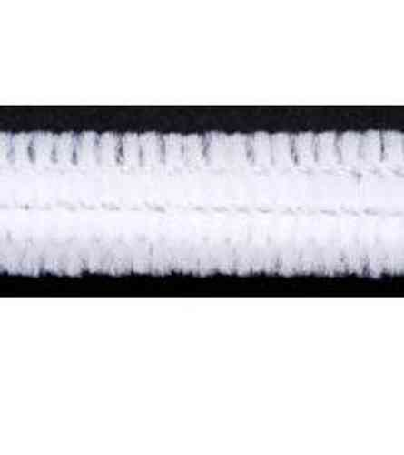 "Pack of 25 12"" Pipe Cleaners / Chenille Stems - White"
