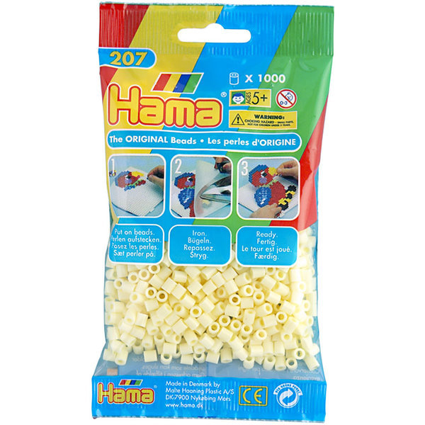 Pack of 1000 Hama Midi Beads - Cream (207-02)