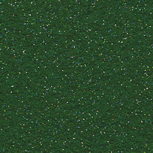 "Polyester Felt Sheet 9"" x 12"" in Kelly Green Glitter"