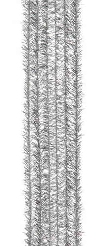 "Pack of 24 12"" Pipe Cleaners / Tinsel Stems - Silver"