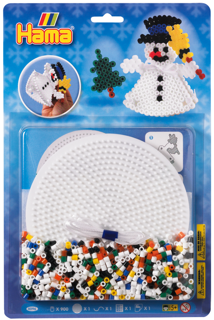Large Hama Midi Bead Christmas Kit - 3D Snowman (4096)