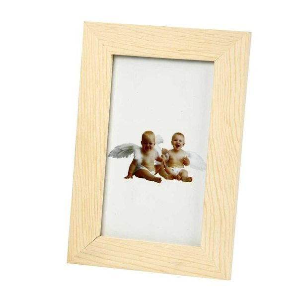 "Wooden Frame with Glass for 3"" x 5"" Picture"