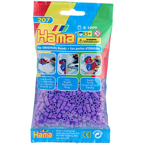 Pack of 1000 Hama Midi Beads - Pastel Purple (207-45)