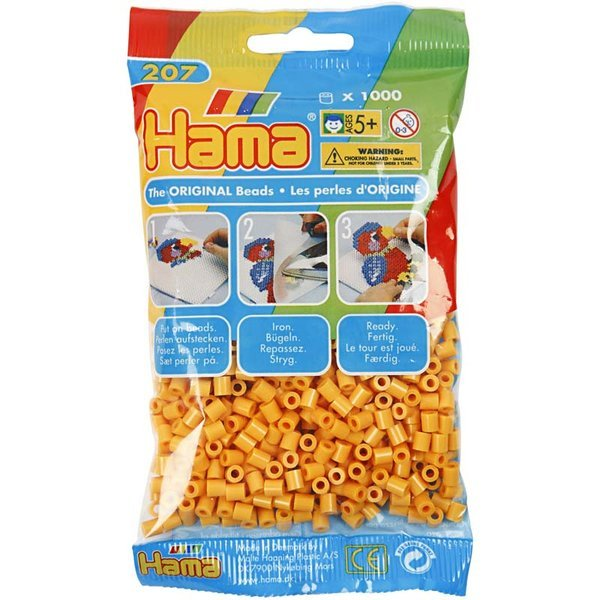 Pack of 1000 Hama Midi Beads - Teddy Bear Brown (207-60)