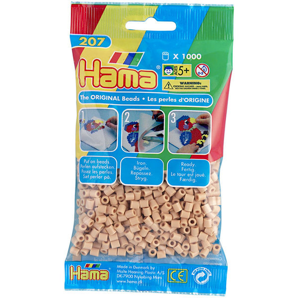 Pack of 1000 Hama Midi Beads - Beige (207-27)