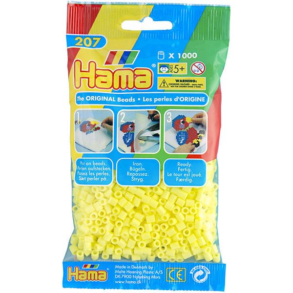 Pack of 1000 Hama Midi Beads - Pastel Yellow (207-43)