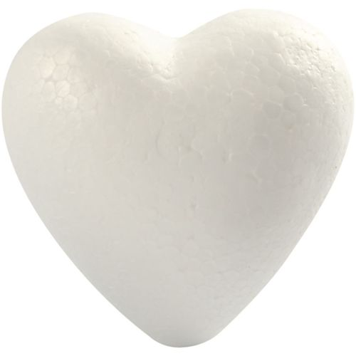 Polystyrene Heart 8cm Pack of 3