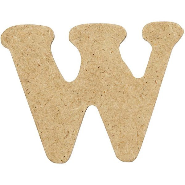 4cm MDF Letter W (Pack of 10)