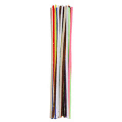 "Pack of 25 12"" Pipe Cleaners / Chenille Stems - Multi"