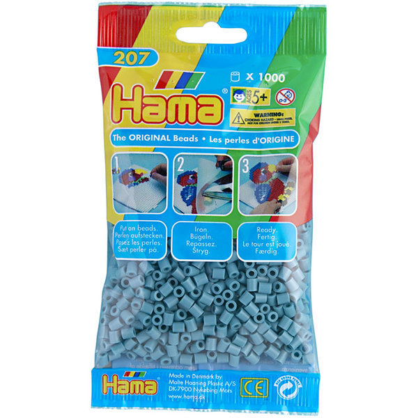 Pack of 1000 Hama Midi Beads - Turquoise (207-31)