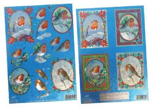 Dufex Die Cut Decoupage - Christmas Robins Pack (248855)