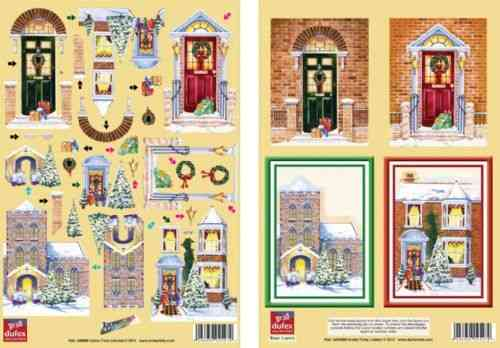 Dufex Die Cut Decoupage - Christmas Doorways Twin Pack (248889)