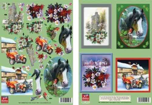 Dufex Die Cut Decoupage - Christmas Scenes Twin Pack (248888)