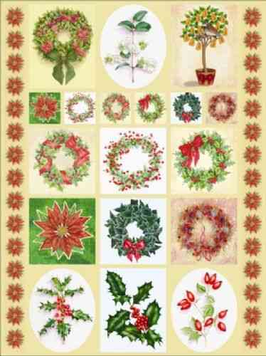 Dufex Traditonal Christmas Floral Stickers (242574)