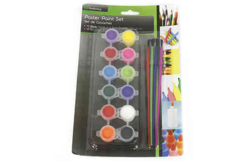 Set of 12 Children's Paints