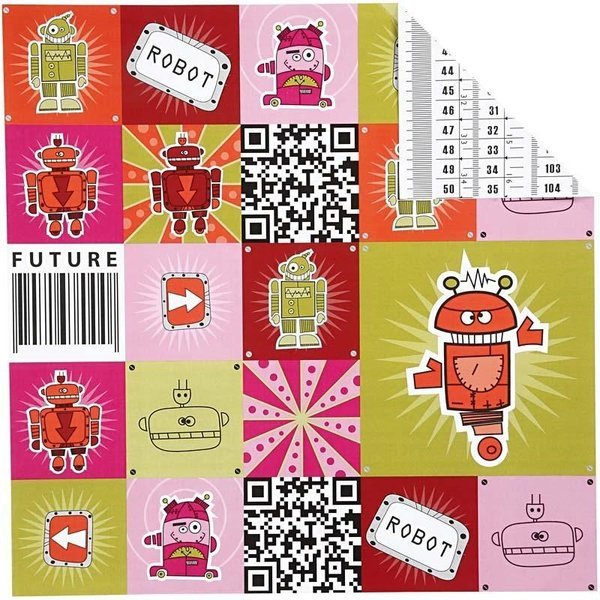 Double Sided 12x12 Design Paper 'Helsinki' - Future Robot (25662)