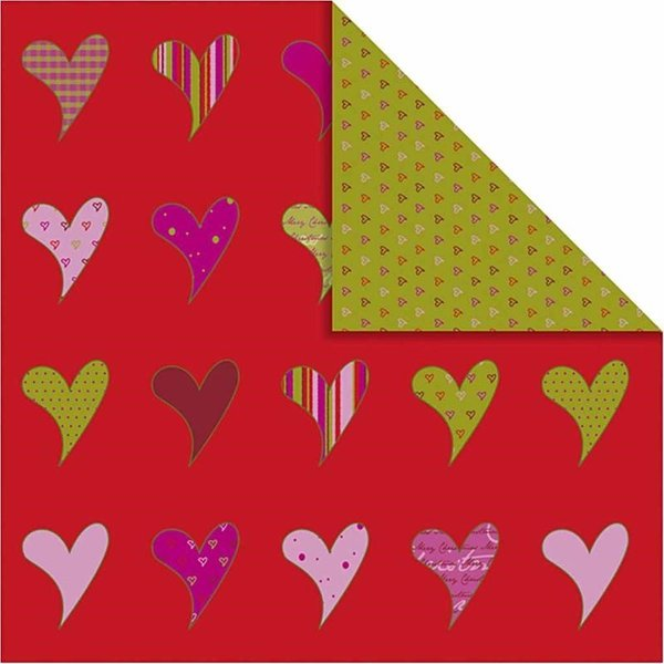 Double Sided 12x12 Design Paper 'Helsinki' - Hearts