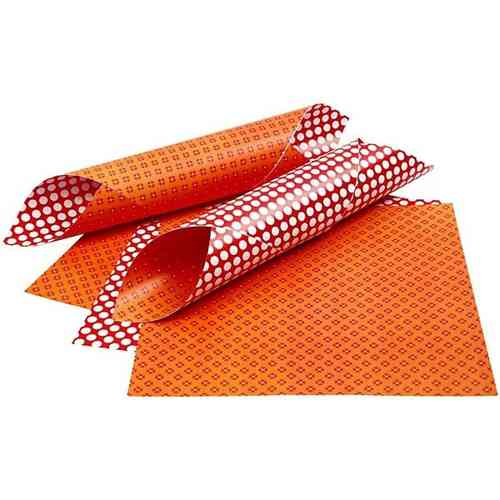 Double Sided 12x12 Design Paper 'London' - Red & Orange