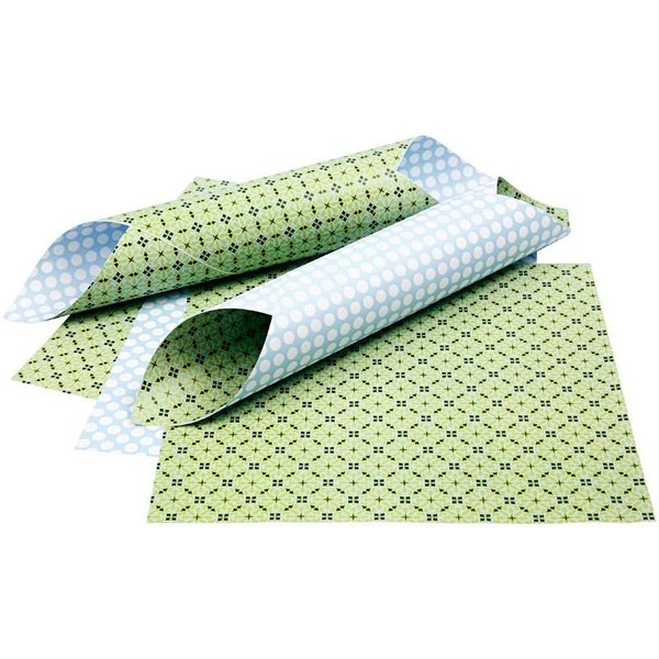 Double Sided 12x12 Design Paper 'London' - Light Green and Light Blue