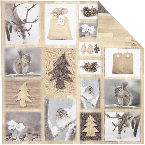 Double Sided 12x12 Design Paper 'Oslo' - Forest