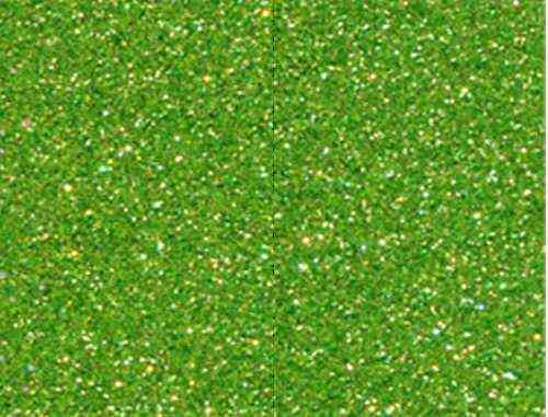 Single Sheet of Glitter Foam 200mm x 300mm x 2mm - Light Green