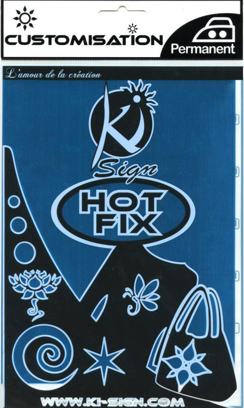 Single A5 Hot Fix Fabric Transfer Sheet - Metallic Blue