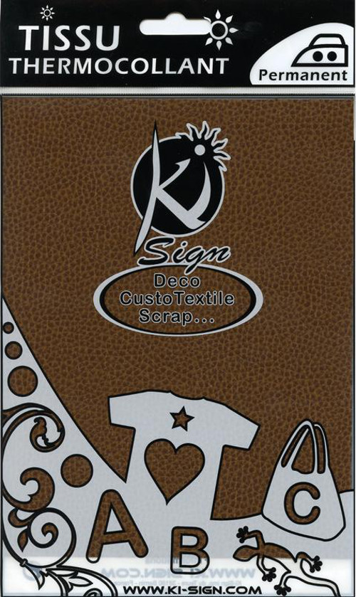 Single A5 Hot Fix Fabric Transfer Sheet - Brown Leather