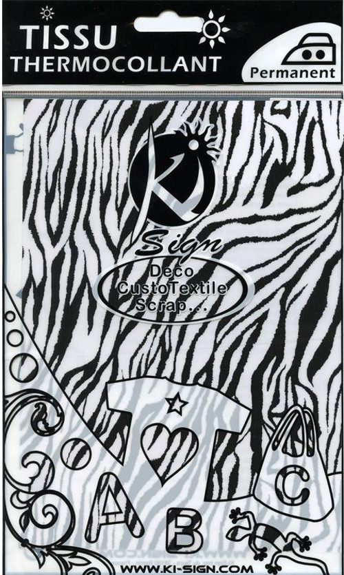 Single A5 Hot Fix Fabric Transfer Sheet - Zebra
