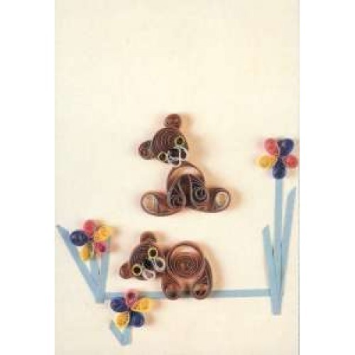 Simple Quilling Picture Kit - Teddy Bears *DISCONTINUED - Last Few Remaining*