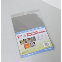 Stix2 Pack of 5 A4 Heat Resistant Acetate Sheets 100 Micron