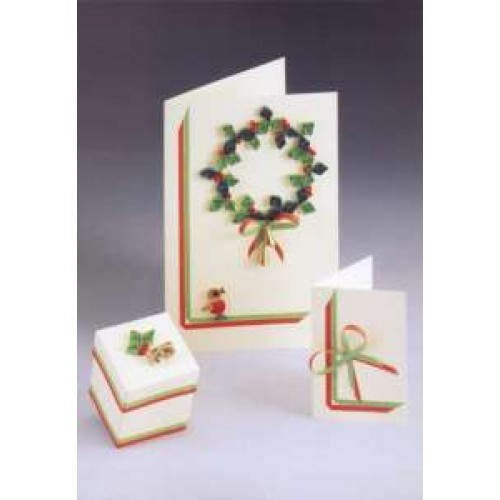 Quilling Card and Gift Box Kit - Christmas Wreath *DISCONTINUED Last Few Remaining*