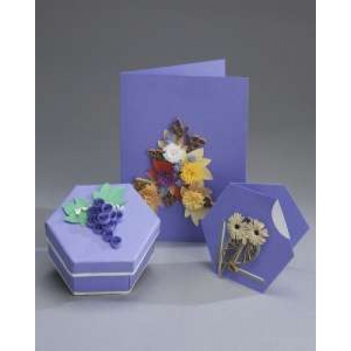 Quilling Card and Gift Box Kit - Autumn Flowers and Fruit *DISCONTINUED Last Few Remaining*