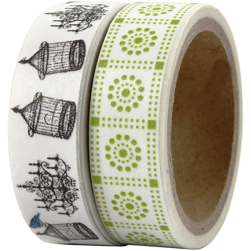 Pack of 2 Washi Tape / Masking Tape - London Bird Cages