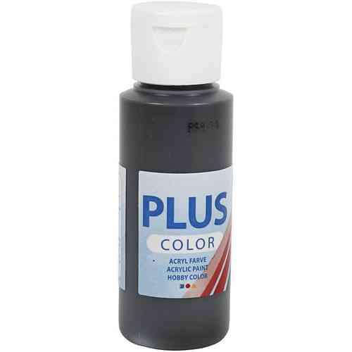Plus Color Acrylic Craft Paint 60ml - Black