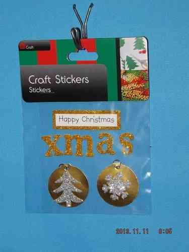 3D Christmas Stickers - Gold Greetings and Tags