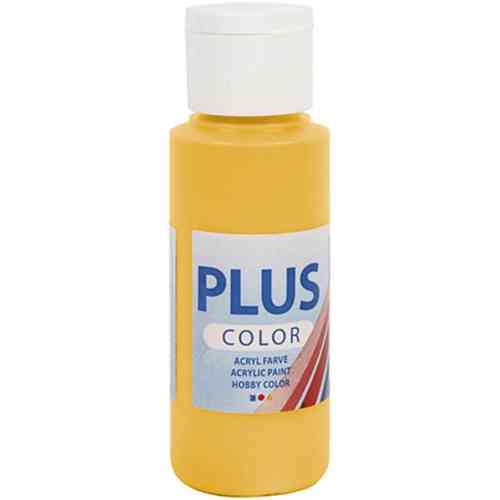 Plus Color Acrylic Craft Paint 60ml - Yellow Sun