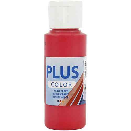 Plus Color Acrylic Craft Paint 60ml - Crimson Red