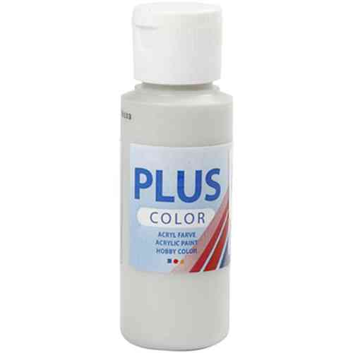 Plus Color Acrylic Craft Paint 60ml - Light Grey