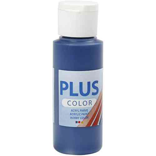 Plus Color Acrylic Craft Paint 60ml - Navy Blue