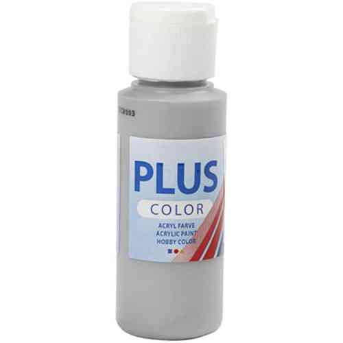 Plus Color Acrylic Craft Paint 60ml - Rain Grey