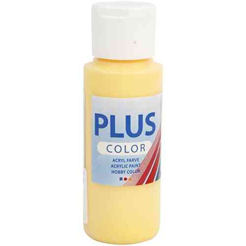 Plus Color Acrylic Craft Paint 60ml - Crocus Yellow